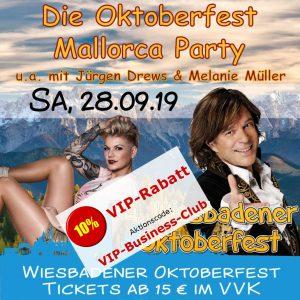 Oktoberfest Wiesbaden: Mallorca-Party mit Jürgen Drews, Melanie Müller uvm. @ Festplatz Gibber Kerb | Wiesbaden | Hessen | Deutschland