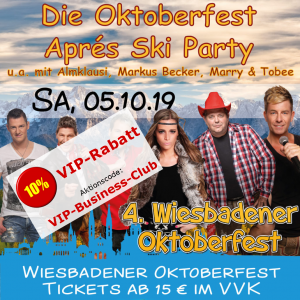 Oktoberfest Wiesbaden: Aprés Ski Party @ Festplatz Gibber Kerb | Wiesbaden | Hessen | Deutschland