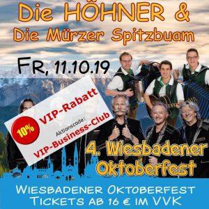 Oktoberfest Wiesbaden: Die Höhner & Die Mürzer Spitzbuam @ Festplatz Gibber Kerb | Wiesbaden | Hessen | Deutschland