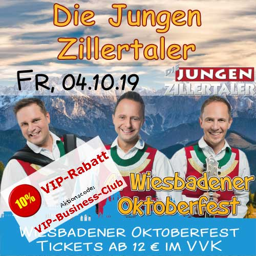 Wiesbadener Oktoberfest: Die jungen Zillertaler
