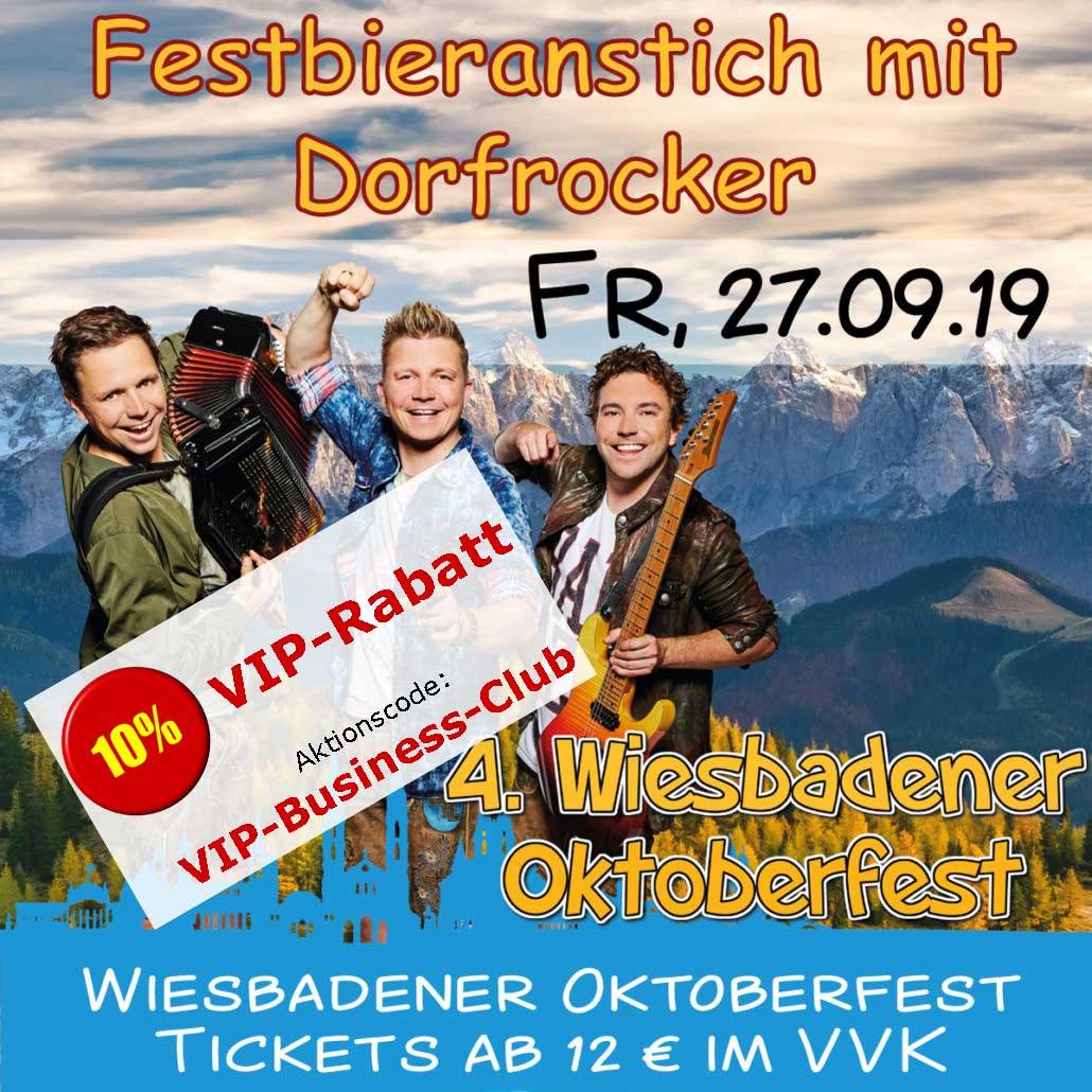 Wiesbadener Oktoberfest - Festbieranstich mit Dorfrocker