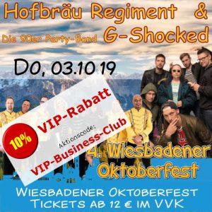 Oktoberfest Wiesbaden: Hofbräu Regiment & G-Shocked @ Festplatz Gibber Kerb | Wiesbaden | Hessen | Deutschland