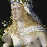 Bartolomeo Veneto (erwähnt 1502-1530), Idealbildnis einer jungen Frau als Flora, um 1520 (?), Öl auf Pappelholz, 43,6 x 34,6 cm, Städel Museum Frankfurt a.M. © Städel Museum – ARTOTHEK