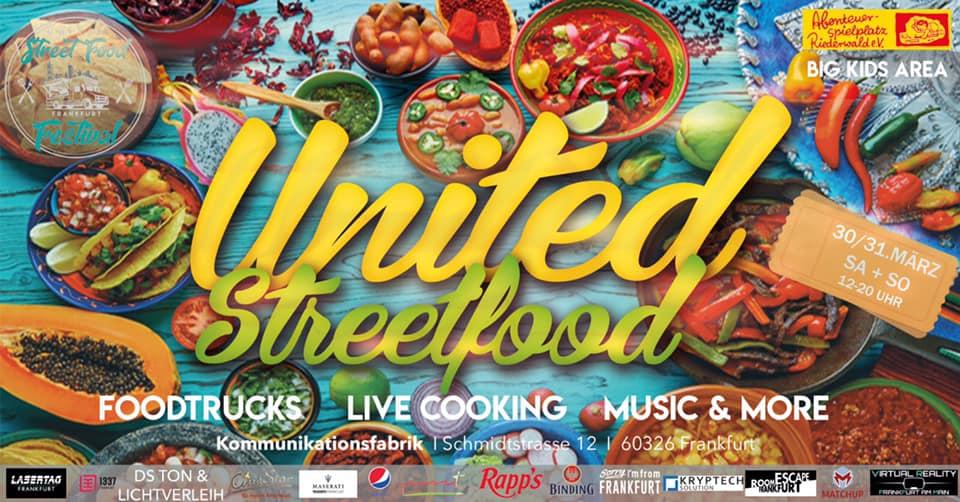 UNITED Streetfood FESTIVAL in der Kommunikationsfabrik @ Kommunikationsfabrik | Frankfurt am Main | Hessen | Deutschland