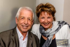 Bert Schmitz und die Moderatorin Julia Schmitz