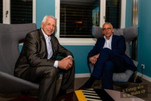 Bert Schmitz und Rainer Ballwanz sitzend