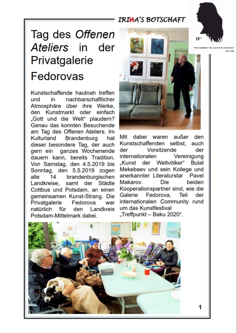 Zeitschrift «IRIИAs Botschaft», Nr.3 vom 06.05.2019