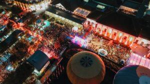 Festivalgelände von oben zum SWR3 New Pop Festival