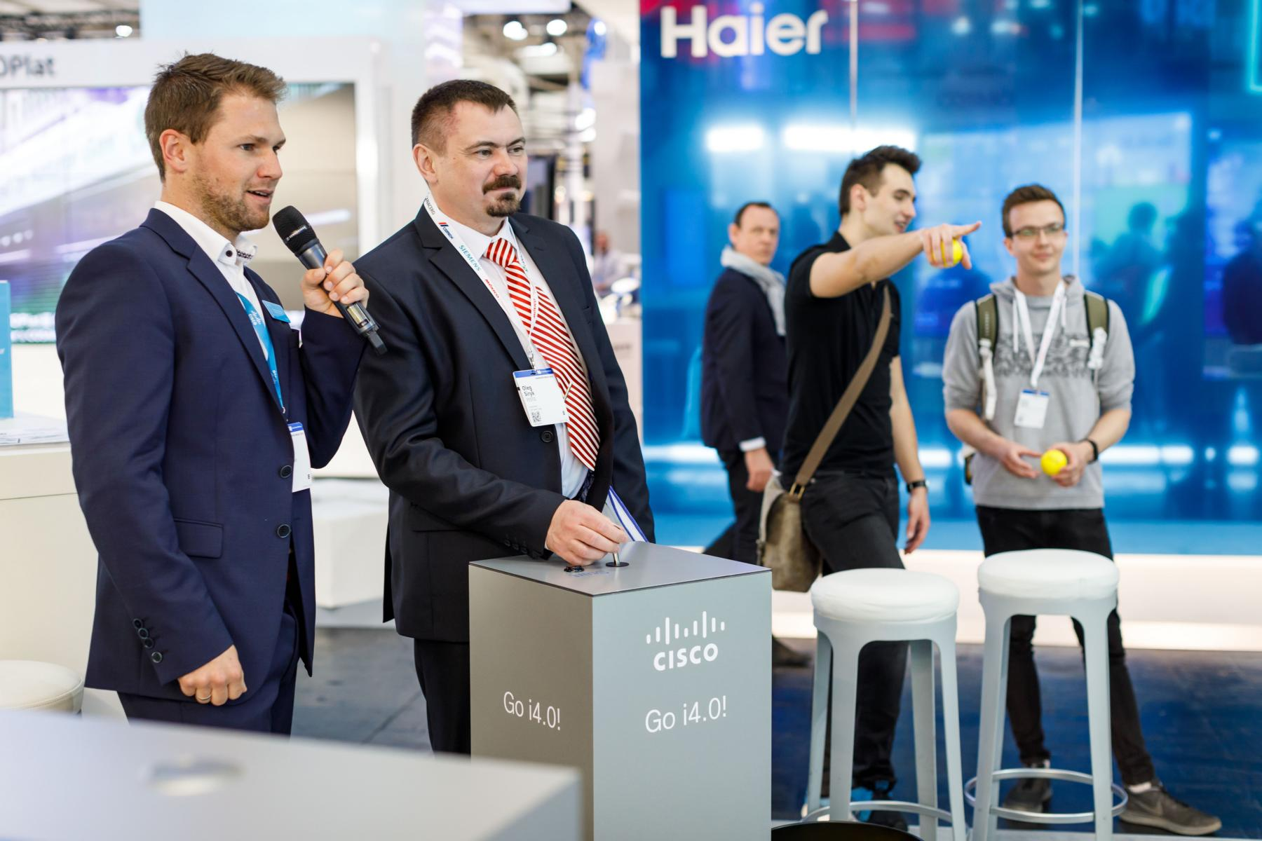 Hannover Messe, Moderation für Cisco